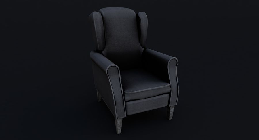 Armchair royalty-free 3d model - Preview no. 3