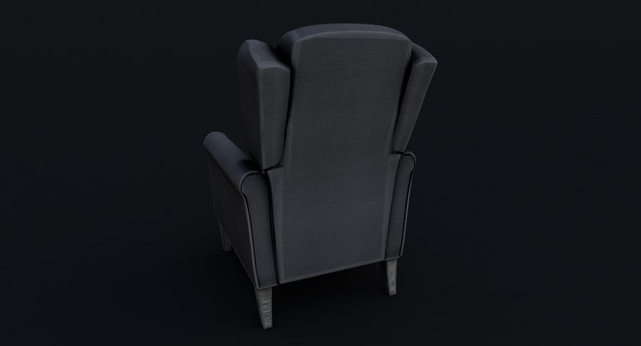 Armchair royalty-free 3d model - Preview no. 6
