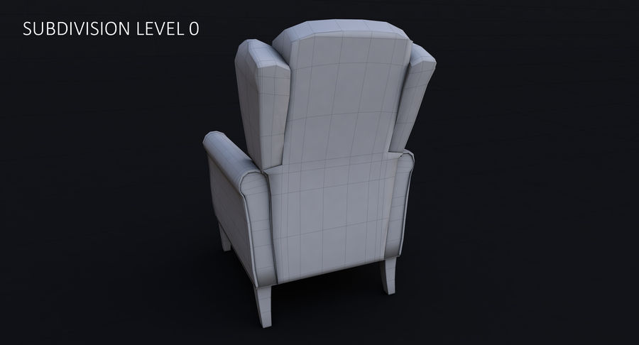 Armchair royalty-free 3d model - Preview no. 25