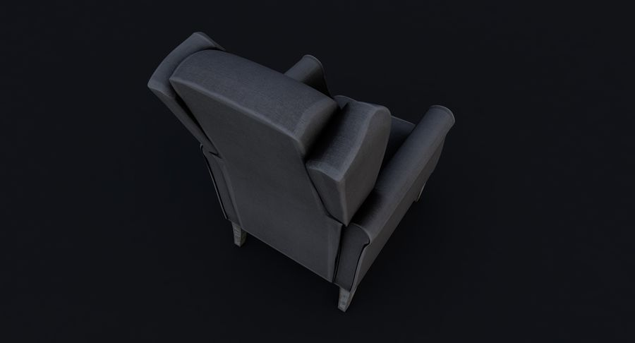 Armchair royalty-free 3d model - Preview no. 10