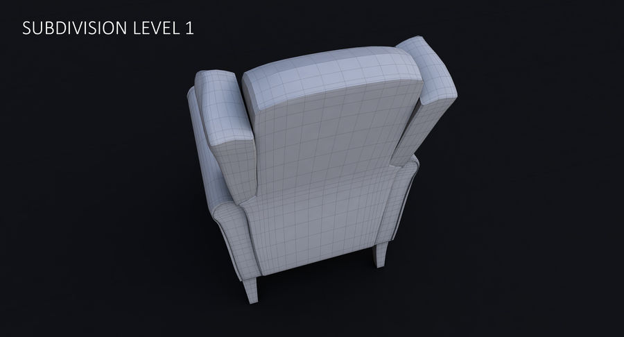 Armchair royalty-free 3d model - Preview no. 32