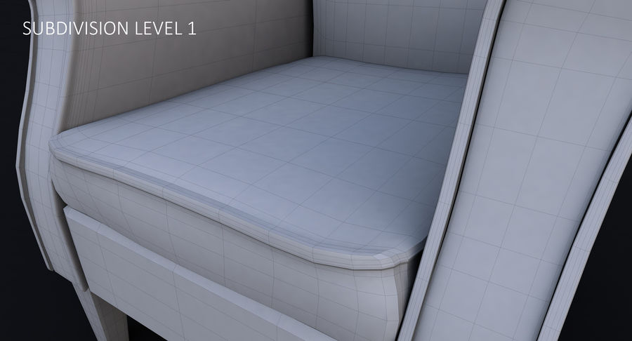 Armchair royalty-free 3d model - Preview no. 38