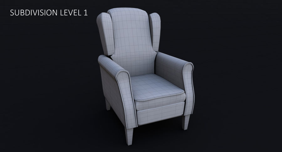 Armchair royalty-free 3d model - Preview no. 20