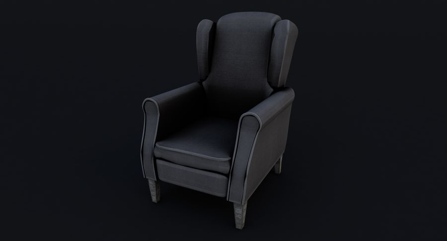 Armchair royalty-free 3d model - Preview no. 4