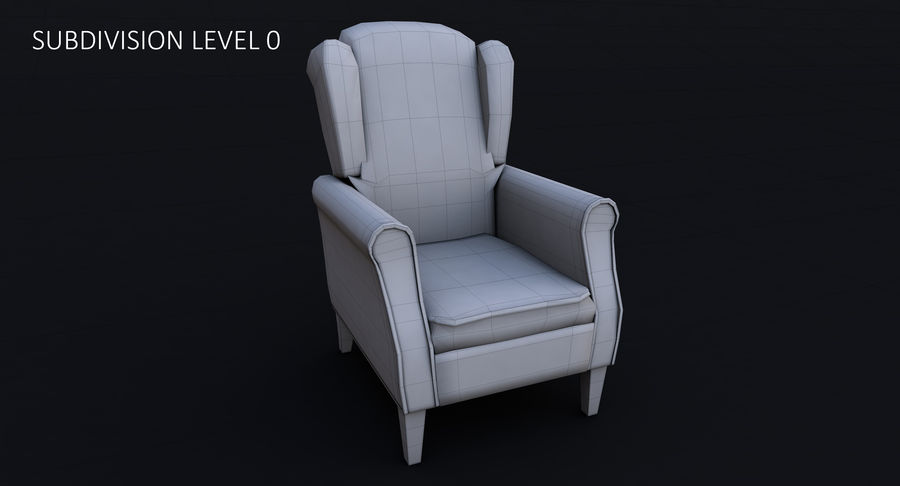 Armchair royalty-free 3d model - Preview no. 19