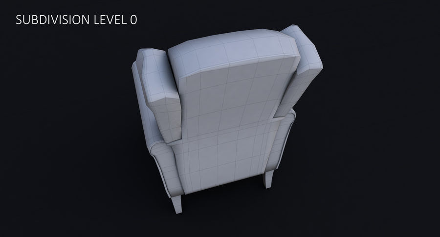 Armchair royalty-free 3d model - Preview no. 31