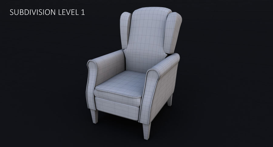 Armchair royalty-free 3d model - Preview no. 22