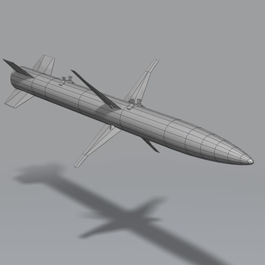 AGM-88 royalty-free 3d model - Preview no. 11