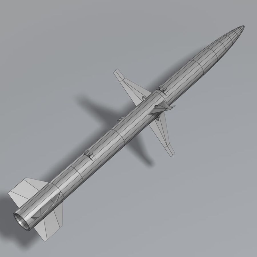 AGM-88 royalty-free 3d model - Preview no. 14