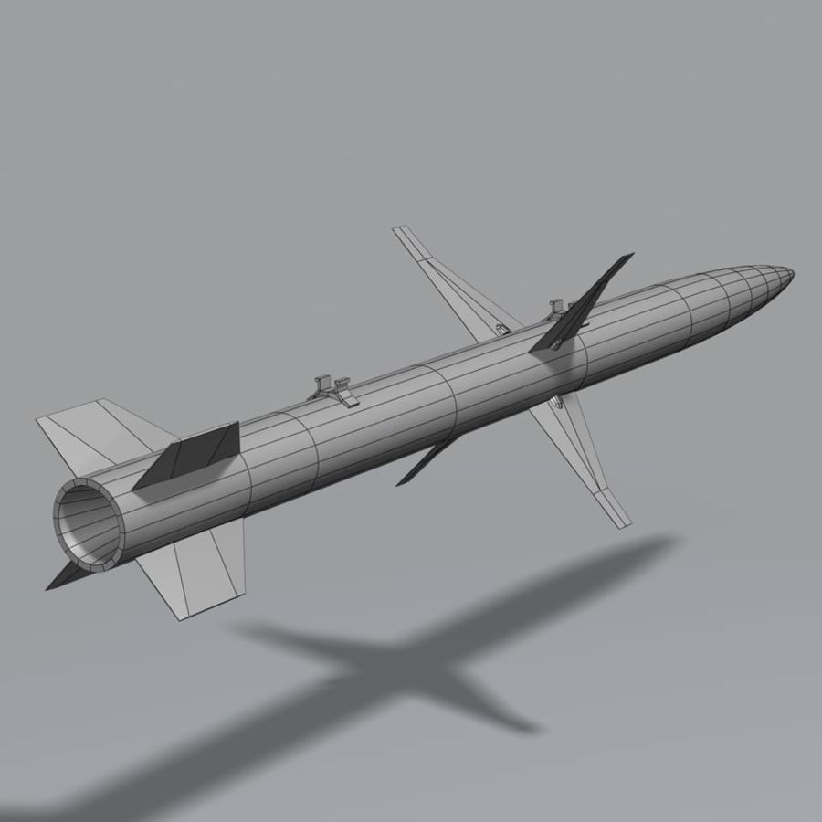 AGM-88 royalty-free 3d model - Preview no. 12