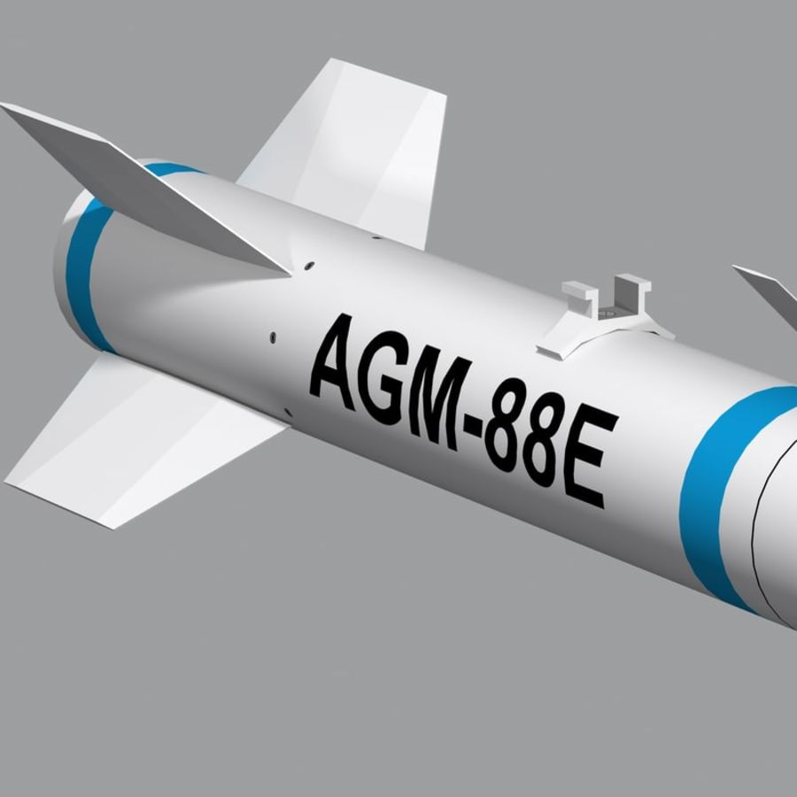 AGM-88 royalty-free 3d model - Preview no. 9