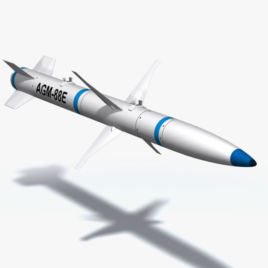 AGM-88 royalty-free 3d model - Preview no. 1