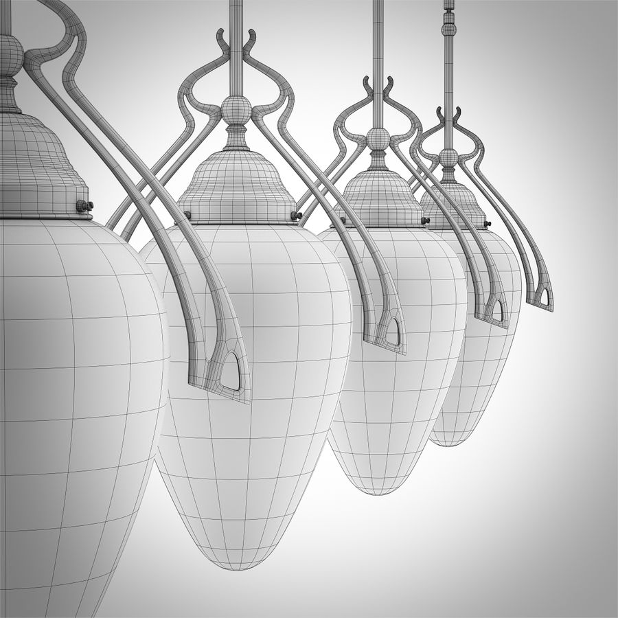 Vintage Lampa Korytarzowa royalty-free 3d model - Preview no. 10
