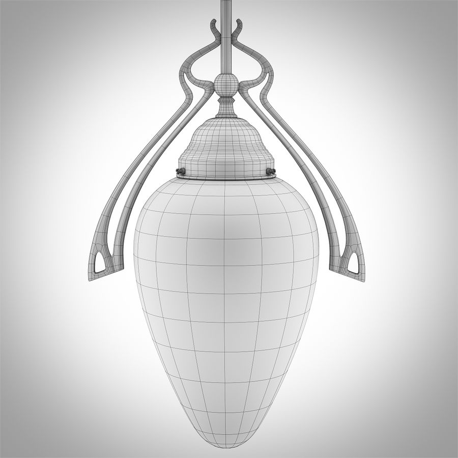 Vintage Lampa Korytarzowa royalty-free 3d model - Preview no. 7
