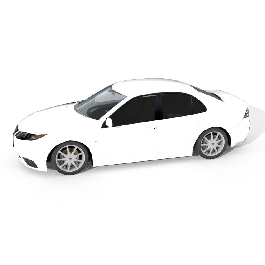 Saab 9-3 royalty-free 3d model - Preview no. 2