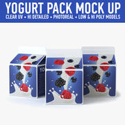 Yogurt Carton (2) 3d model