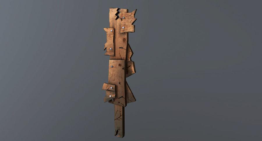 Juego de armas de madera listo royalty-free modelo 3d - Preview no. 13