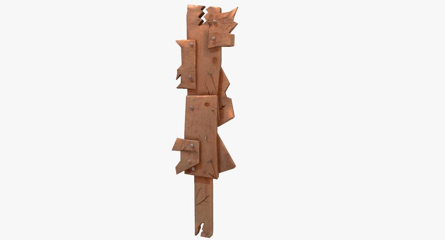 Juego de armas de madera listo royalty-free modelo 3d - Preview no. 1