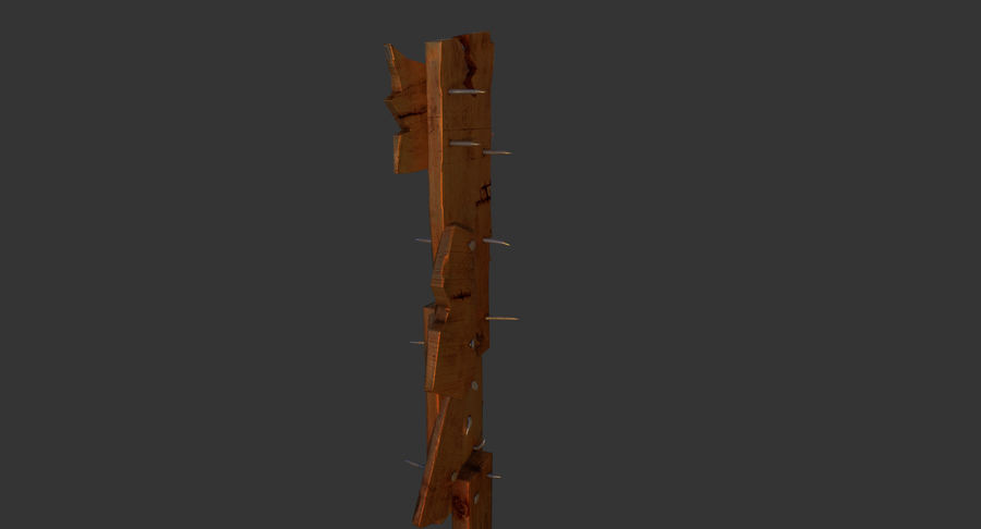 Juego de armas de madera listo royalty-free modelo 3d - Preview no. 15