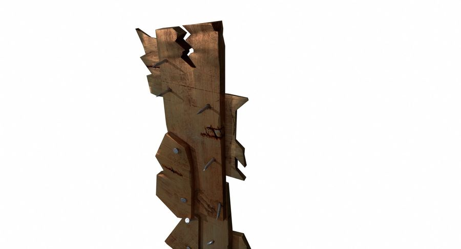 Juego de armas de madera listo royalty-free modelo 3d - Preview no. 8
