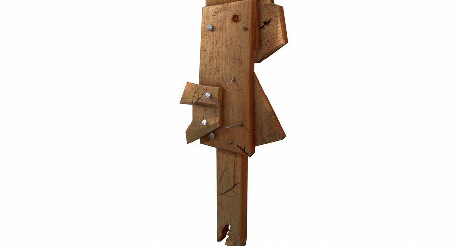 Juego de armas de madera listo royalty-free modelo 3d - Preview no. 11