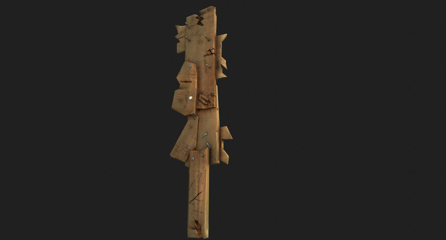 Juego de armas de madera listo royalty-free modelo 3d - Preview no. 16