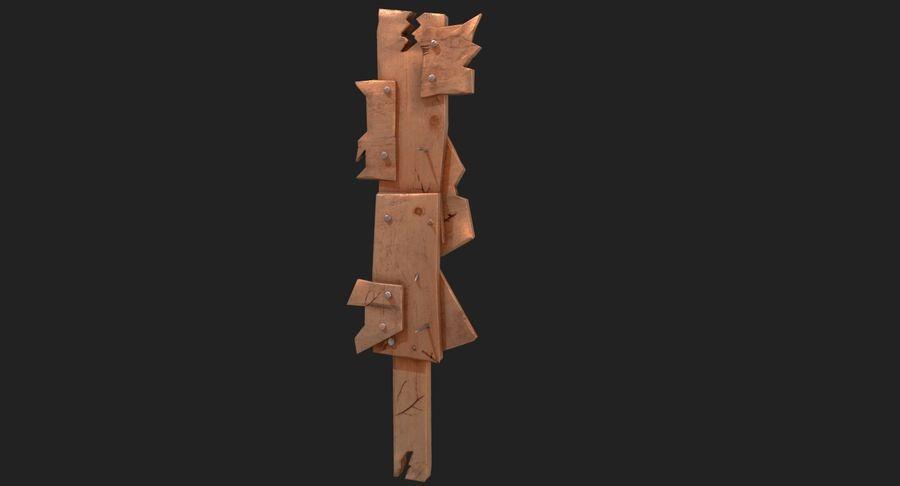 Juego de armas de madera listo royalty-free modelo 3d - Preview no. 2