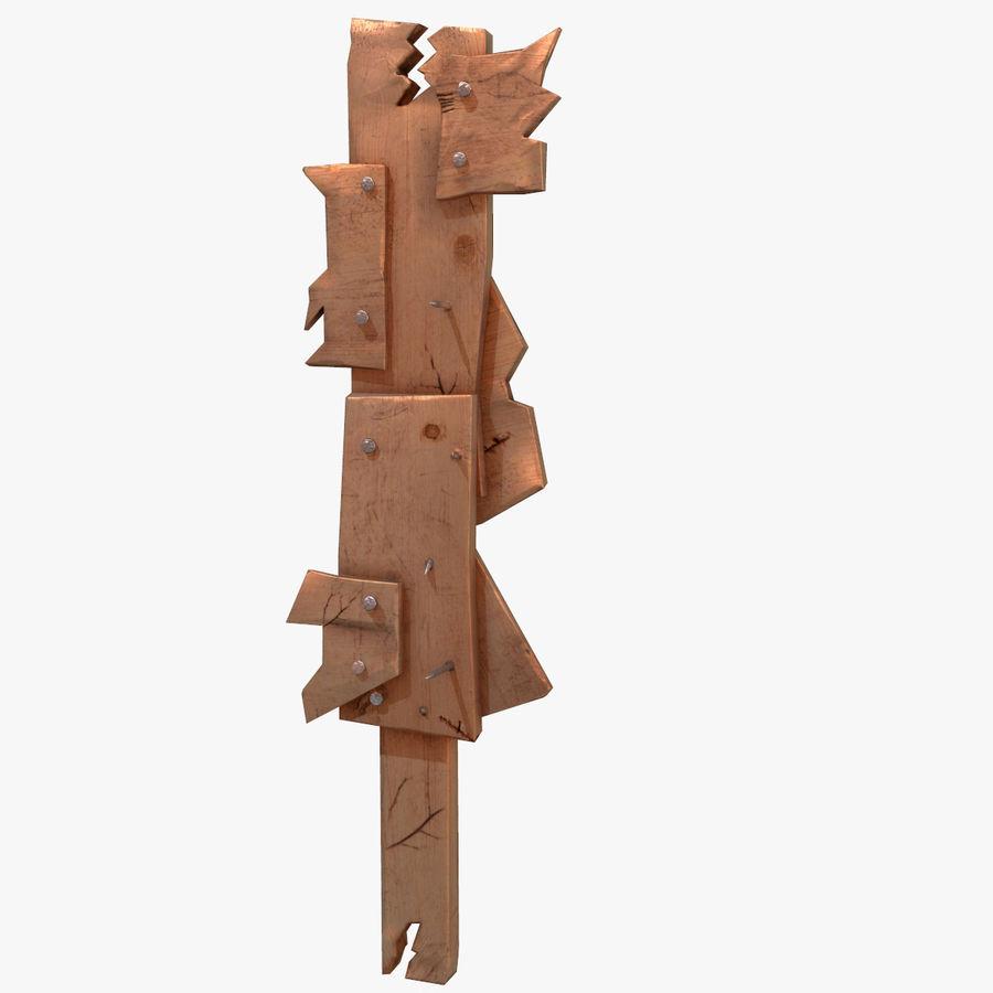 Juego de armas de madera listo royalty-free modelo 3d - Preview no. 3