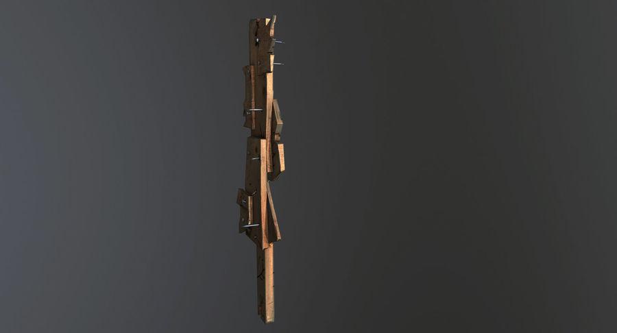 Juego de armas de madera listo royalty-free modelo 3d - Preview no. 12