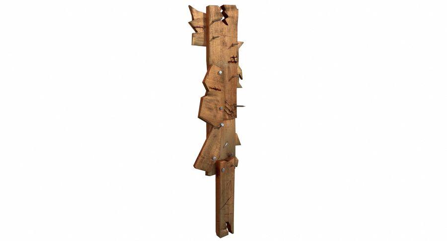 Juego de armas de madera listo royalty-free modelo 3d - Preview no. 5
