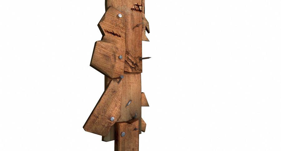 Juego de armas de madera listo royalty-free modelo 3d - Preview no. 10