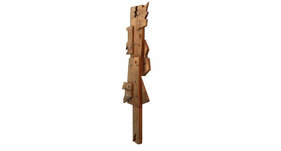 Juego de armas de madera listo royalty-free modelo 3d - Preview no. 6