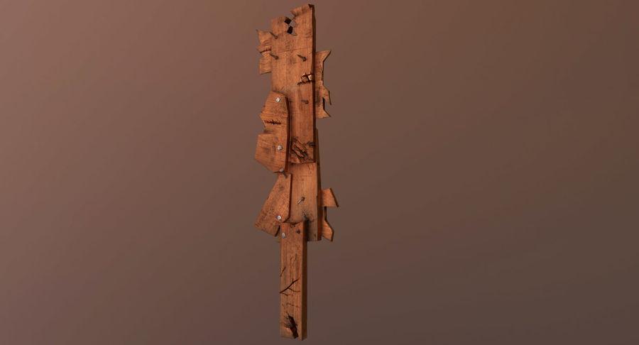 Juego de armas de madera listo royalty-free modelo 3d - Preview no. 14