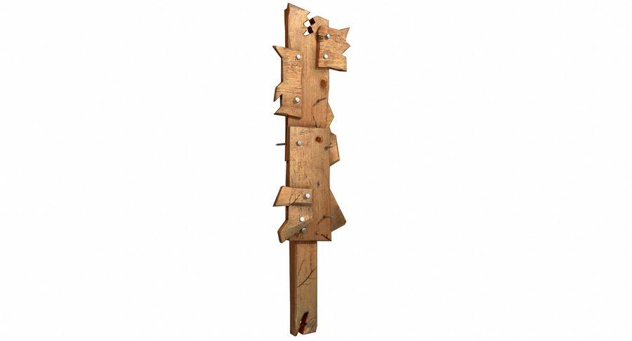 Juego de armas de madera listo royalty-free modelo 3d - Preview no. 7