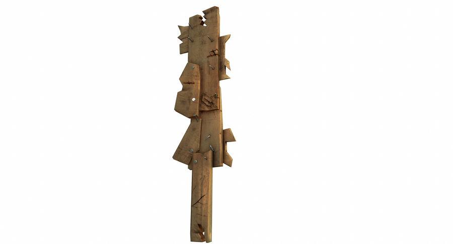 Juego de armas de madera listo royalty-free modelo 3d - Preview no. 4