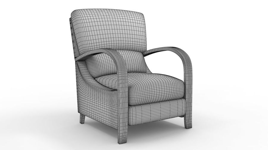 divano poltrona royalty-free 3d model - Preview no. 2