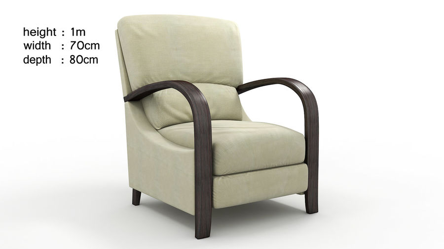 divano poltrona royalty-free 3d model - Preview no. 1