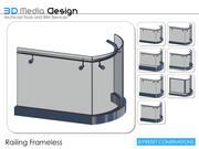 Balustrada 3DMD Bezramowa V4.5 3d model