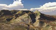 Desierto, montaña modelo 3d