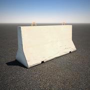 Krótka betonowa bariera 3d model