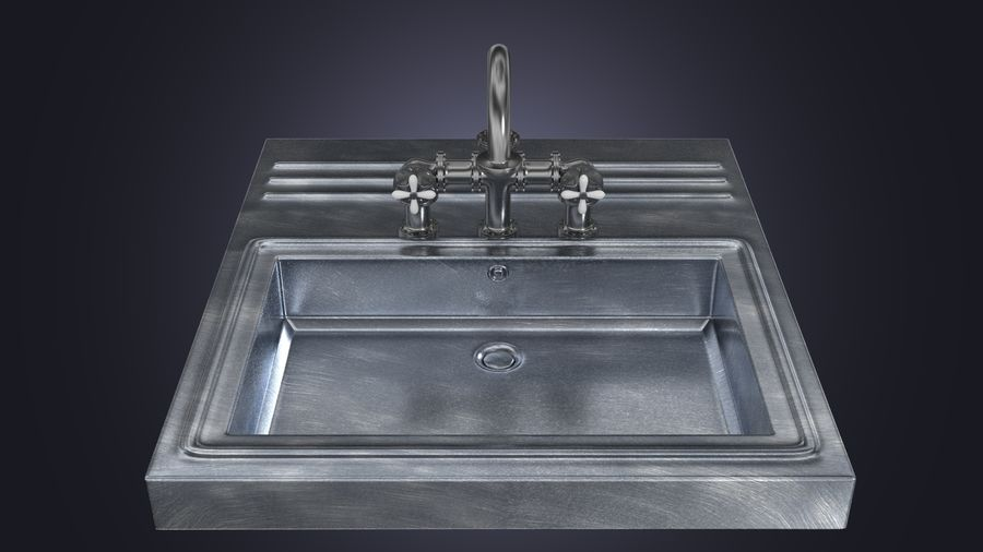 Lavabo Bataryası royalty-free 3d model - Preview no. 1