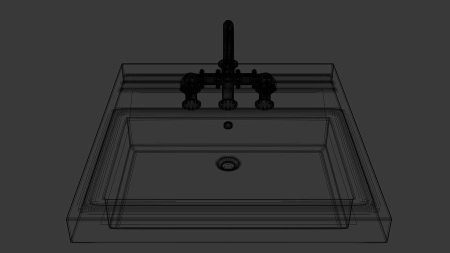 Lavabo Bataryası royalty-free 3d model - Preview no. 6