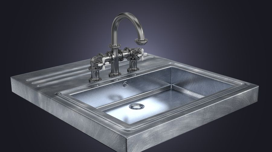 Lavabo Bataryası royalty-free 3d model - Preview no. 2