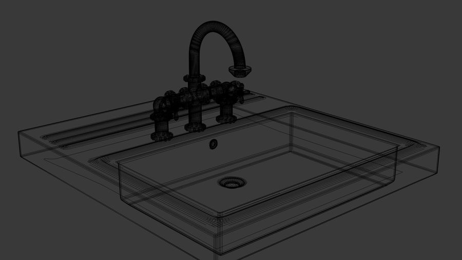 Lavabo Bataryası royalty-free 3d model - Preview no. 7