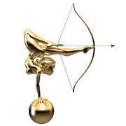 Arqueiro Dourado 3d model