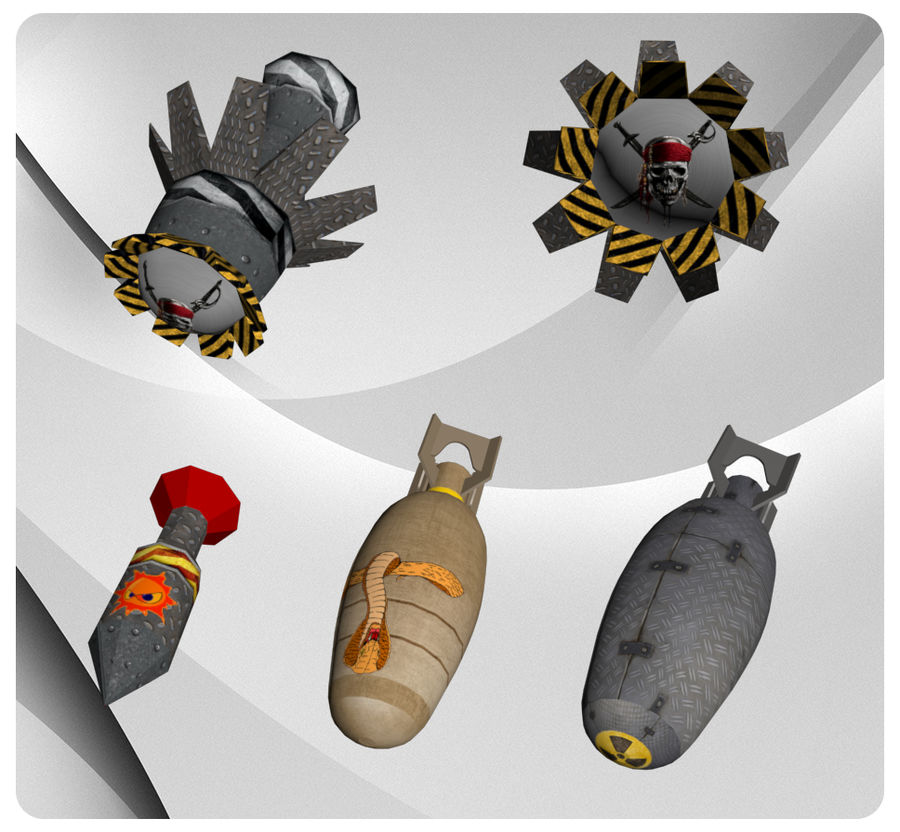 Bombs royalty-free 3d model - Preview no. 2