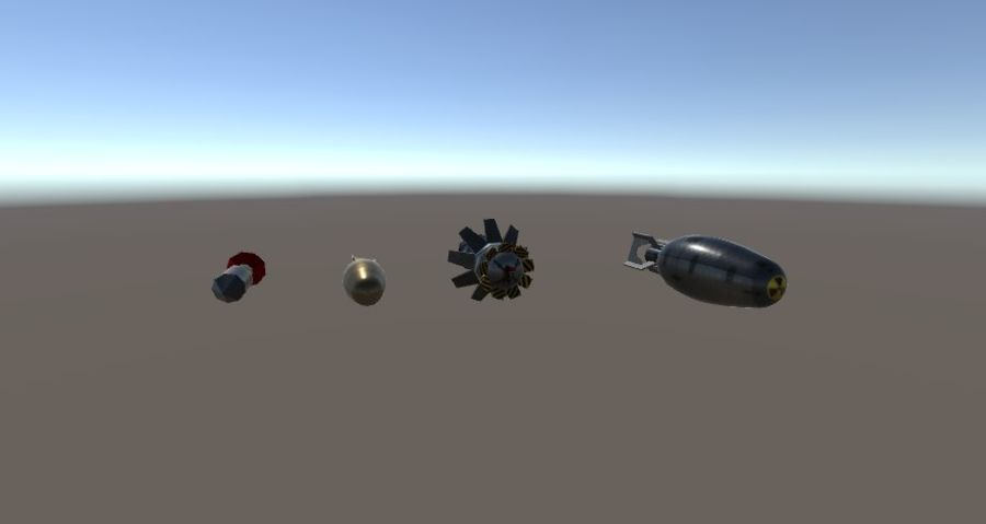 Bombs royalty-free 3d model - Preview no. 4