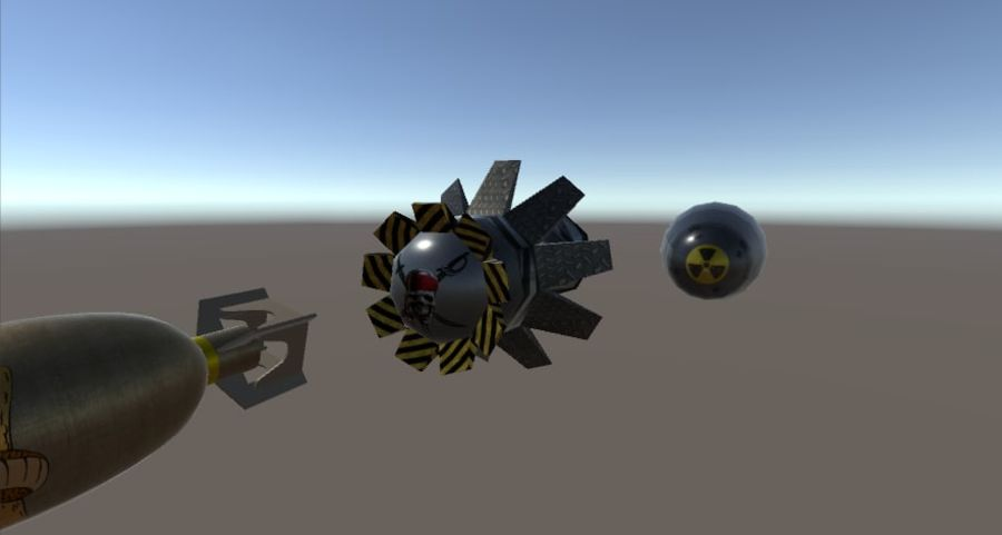 Bombs royalty-free 3d model - Preview no. 3
