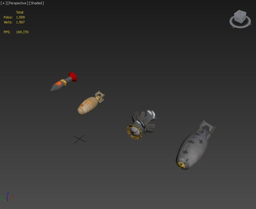 Bombs royalty-free 3d model - Preview no. 11