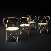 긴장 굽은 의자 3d model